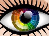 Vector colorful palette woman eye — Stockvector