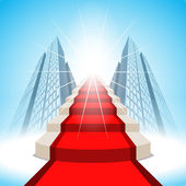 Stairs leading up to success. Vector — Stock Vector
