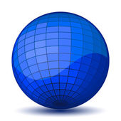 Blue chessboard ball. Vector  — Vetorial Stock