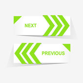 Vector Previous and Next navigation buttons for custom web design — Stockvector