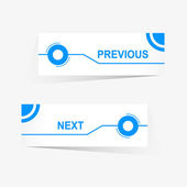 Vector Previous and Next navigation buttons for custom web design — Stock Vector