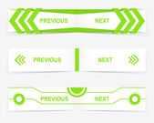 Vector Previous and Next navigation buttons for custom web design — Cтоковый вектор