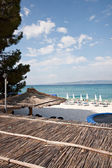Beautiful beach and blue sky at summer — Стоковое фото