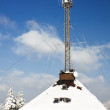 Radio antenna communication tower — Stock Photo #2517947