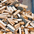 Log stockpile lumber for winter firewood heap — Stock Photo #28190787