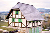 Traditional Bosnian old architecture vintage house or cabin — Stock Photo