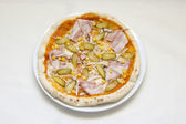Pizza on white background separated — Stock Photo