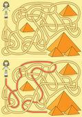 Pyramid maze — Stock Vector