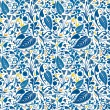Royalty-Free Stock Vector Image: Blue floral pattern