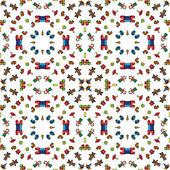 おもちゃのパターン — ストックベクタ