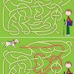 Guide dog maze — Stock Vector