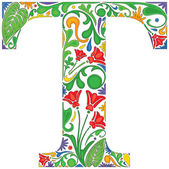 Floral T — Stock Vector