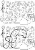 Doctor maze — Stock Vector