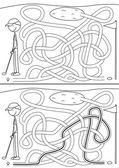 Golf maze — Stock Vector