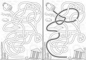 потерял город лабиринт — Cтоковый вектор