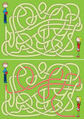 Love maze — Stock Vector