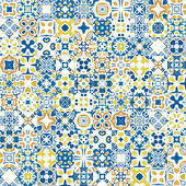 Azulejos portugues — Vector de stock