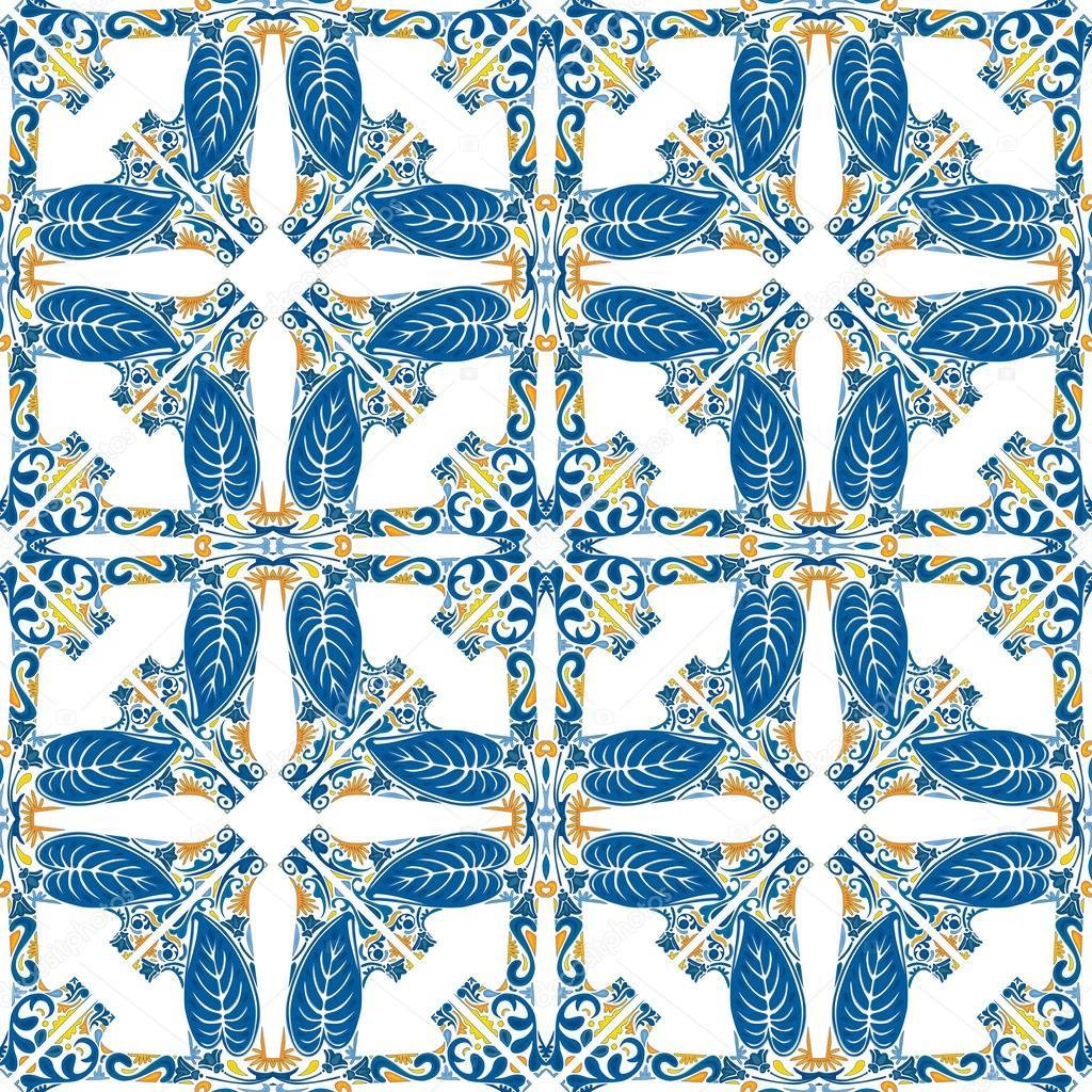 葡萄牙瓷砖 — 图库矢量图片