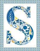 Blue letter S — Stock Vector