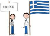 Greek flag — Cтоковый вектор