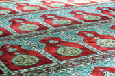 Mosque prayer carpet — Stock Photo