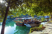 Manavgat river boats — Stock Photo