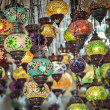 Turkish mosaic lamps — Stock Photo
