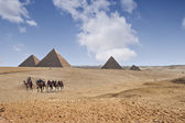 Pirâmides de gizé — Foto Stock