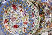 Traditional turkish iznik plates — Stock Photo