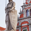 Saint Roland i Riga old town - Stock Photo