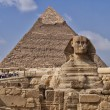 Pyramids and sphinx in Egypt — Stock Photo