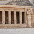 Stock Photo: Hatshepsut temple detail