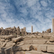 Karnak temple ruins — Stock Photo