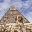 The Sphinx and pyramids of Giza — Stock Photo
