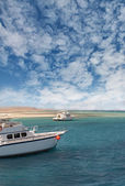 Boats on the Red Sea coast — Stock Photo