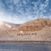 Hillside tombs in the valley of the kings egypt — Stock Photo