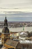 вид города риги, латвия — Стоковое фото
