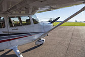 Small plane in private airport — Stock Photo