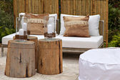 Garden seating area — Stockfoto