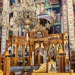 Inside a cretan orthodox church — Stock Photo