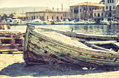 Förlista båt — Stockfoto