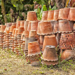 Group of clay pottery — Stock Photo