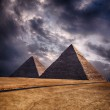 Giza pyramids in Cairo Egypt — Stock Photo #26728545