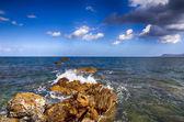 Crete coastal landscape — Stock Photo