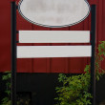 Rundown advertising sign — Stock Photo #2801759