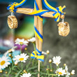 Midsummer pole — Stock Photo
