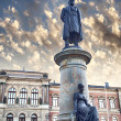 Uppsala university statues — Stock Photo