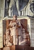 Riga statue — Stock Photo