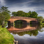 Callander red brick bridge — Stock Photo