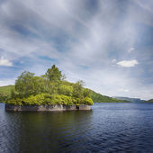 Loch Katrine and Factors isle — Stock Photo